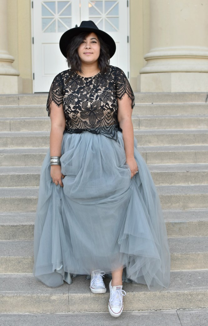45aba94f A plus size Cinderella Story in tulle & Converse; OOTD - biancakarina