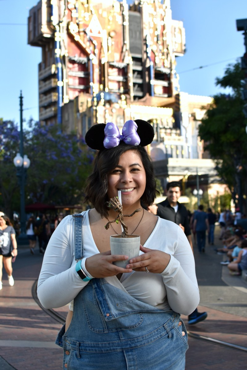 Plus size summer Disneyland outfit: Overalls; OOTD