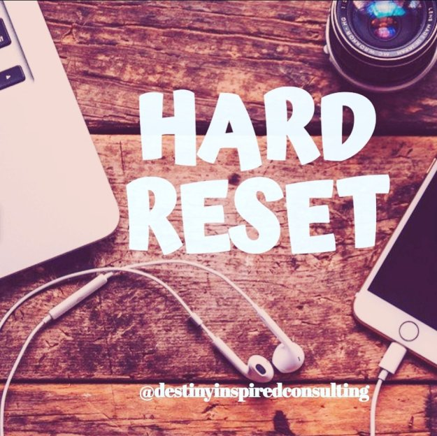 Hard Reset Graphic with laptop and cell phone