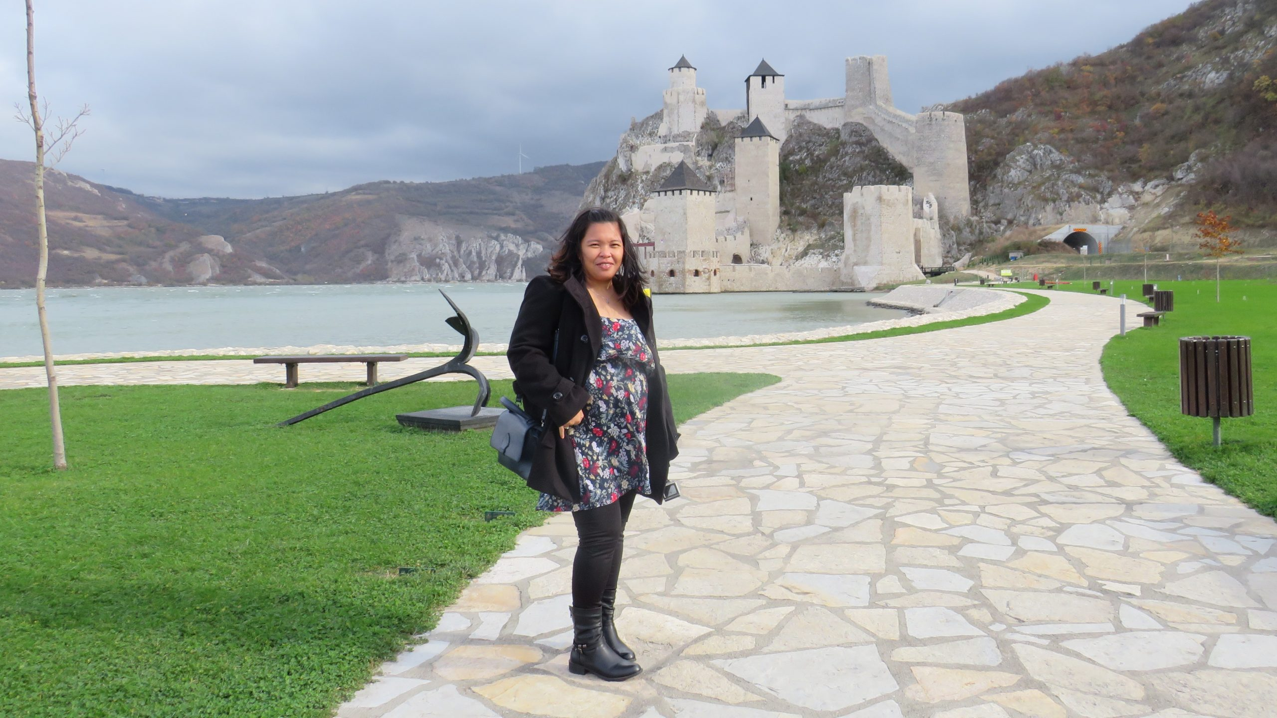 Bianca Rei at 6 months pregnant. Golubac Fortress