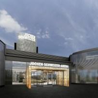 Jochen Schweizer Arena Eingangsbereich