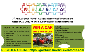 Golf FORE Autism 2020 Event