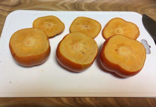 柿の冷凍でスイーツデザート画像