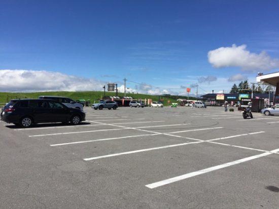 ビーナスライン 霧ヶ峰 駐車場混雑状況画像