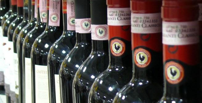 vino bottiglie chianti