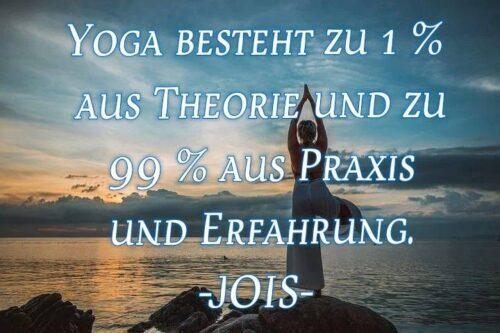 Yoga besteht...
