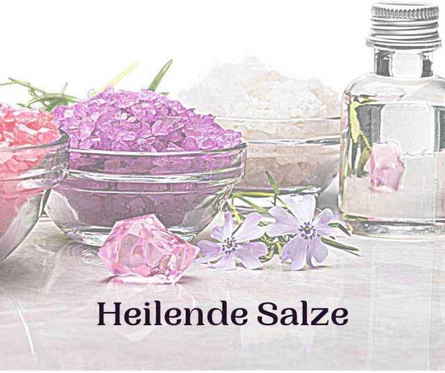 Schriftzug: Heilende Salze vor Salz Naturkosmetik
