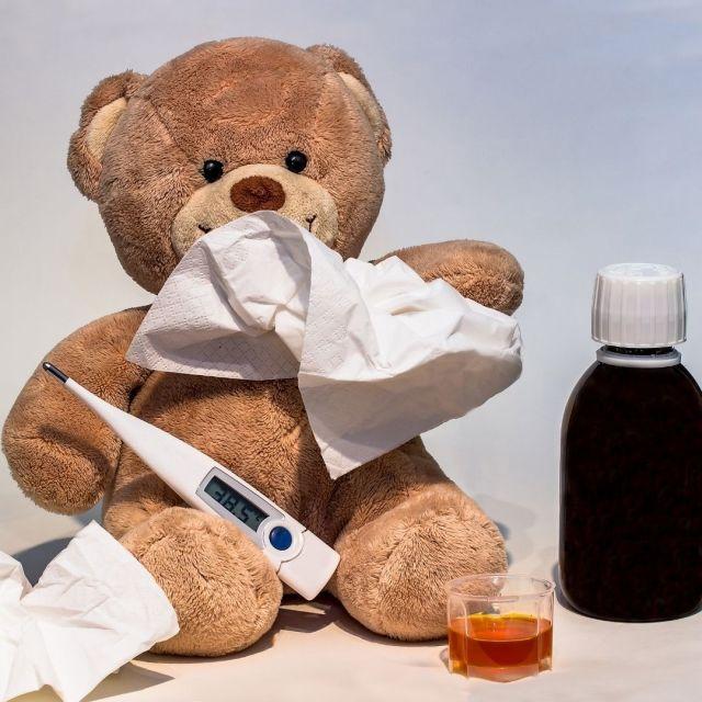 Bär, Fieber, Hustensaft, Husten, Schnupfen, Erkältung, Thermometer, Aromatherapie, Primavera