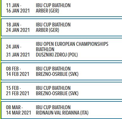 Calendrier 2021 Biathlon Le nouveau programme IBU Cup dévoilé   Biathlon Live