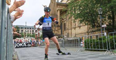Johannes Boe participe cette année encore au City Biathlon de Wiesbaden.