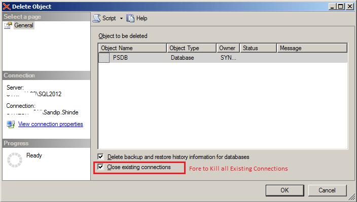 PowerShell for Droping Database