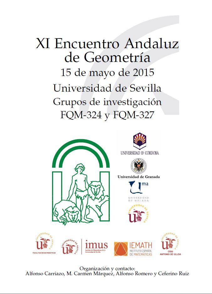 XI Encuentro Andaluz de Geometría. Universidad de Sevilla.