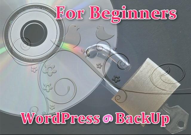 初心者のためのWordPressのバックアップ;ディスクとキー