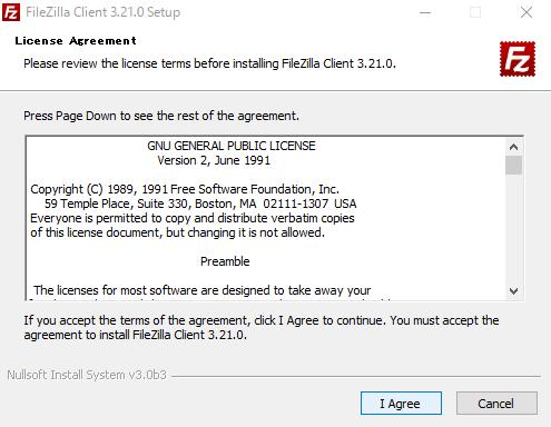 ファイルジラ;ライセンス認証の同意画面