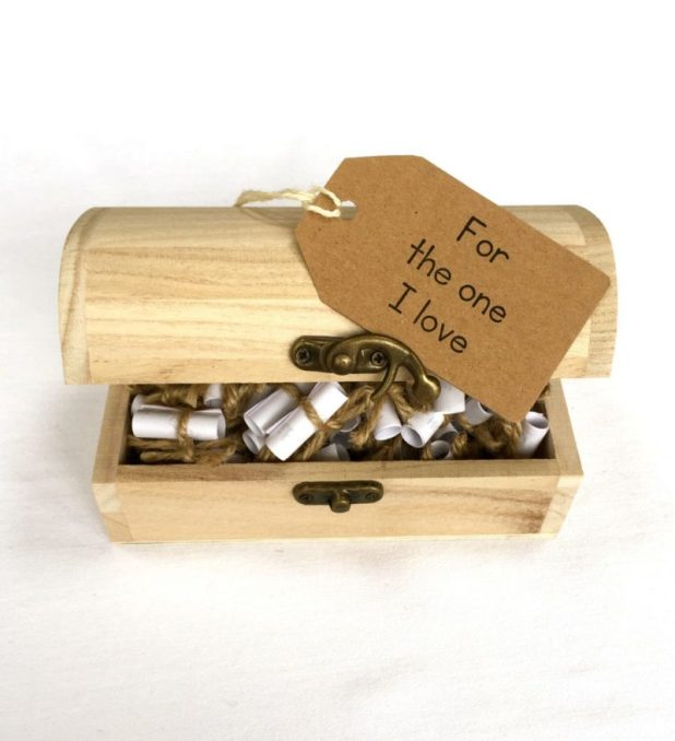 Unique Treasure Box with Lovable Words