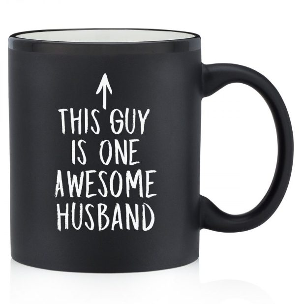 Simple Black Mug Gift Ideas for Husband