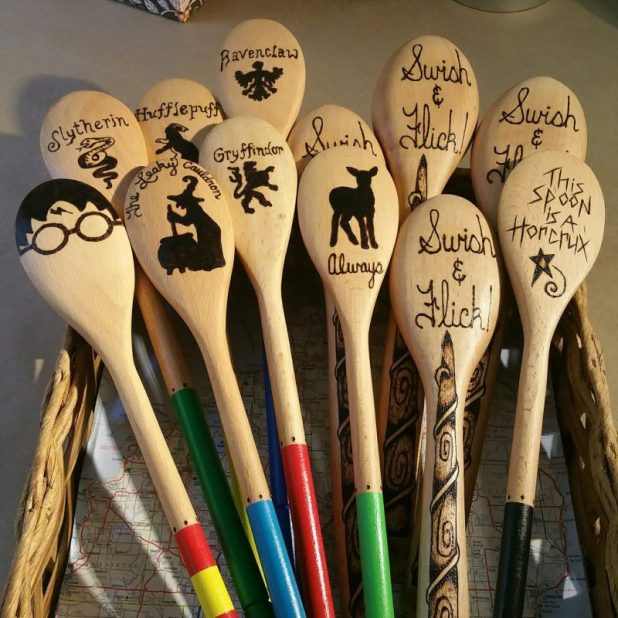 Eclectic Wooden Spoon for Harry Potter Gift Ideas