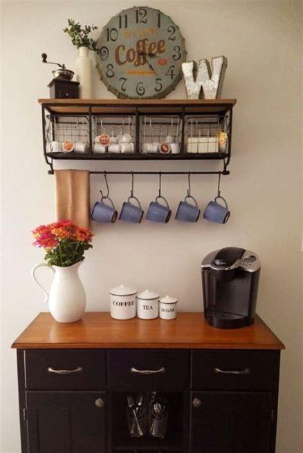 50 Best Kitchen Coffee Bar Ideas - Bib And Tuck