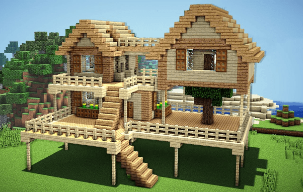 simple minecraft wooden house ideas
