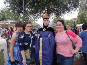 disneyland, high school reunion, disney characters, disney meet and greet, evil stepmother, cinderella