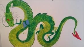 Mural drac pintat