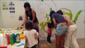 Pintant el mural