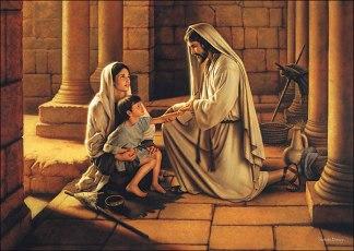 Jesu kärlek mot den föräldralöse och änkan