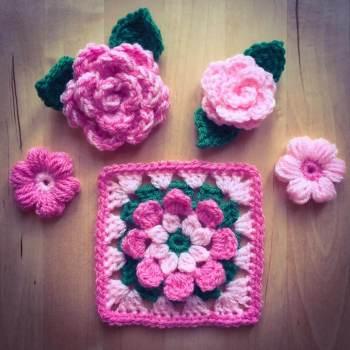crochet flowers 2017