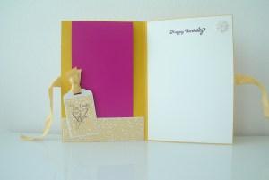 Scrapbooking Geburtstagkarte Origami Kleid_1
