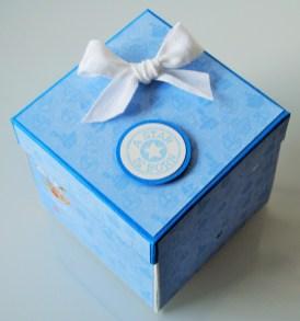 Scrapbooking Explosionbox Baby Boy - Geschenk (2)