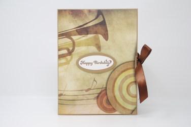 Geburtstagskarte Trompete