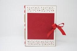 Weihnachtsmarkt Weihnachtskarte Sterne rot_1