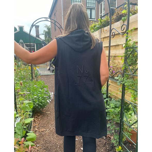 215Donna Cardigan With Embroderie black