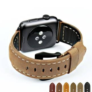 Bracelet Apple Watch Vintage en Cuir veritable