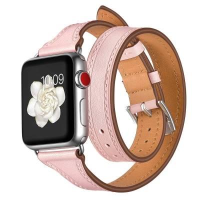 Bracelet Double Tour Apple Watch Femme Cuir véritable bibitech.net