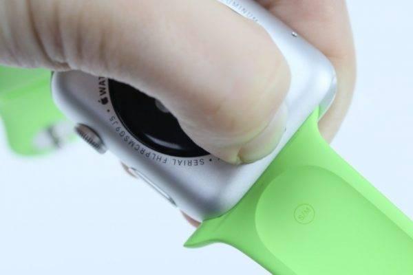 Bouton de libération du bracelet Apple Watch