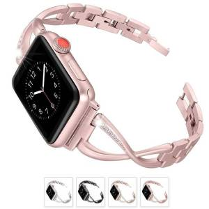 Bracelet Apple Watch Femme maillons sertie de strass Noté 5.00 sur 5 basé sur 6 notations client( avis client) 49.90€ 24.90€ Personnalisez votre Apple Watch avec ce bracelet pour femme sertie de strass, finement travaillé moderne. Son look élégant en fait un bracelet de remplacement idéal. Compatible avec toutes les Apple Watch Séries 1, 2, 3 et 4 Livraison offerte sur ce produit avec le code Promo: shipoff Je choisis la couleur Je choisis la taille 38mm40mm42mm44mm quantité de Bracelet Apple Watch Femme maillons sertie de strass 1 Ajouter au panier Catégories : Bracelet Apple Watch, Bracelets Apple Watch Femme, Bracelets Apple Watch Maillons Acier Partager: TwitterFacebookPinterest2Plus Description Avis (6) Description