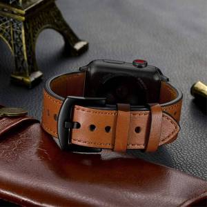 Bracelet en cuir véritable pour montre apple 42mm 38mm 44mm 40mm