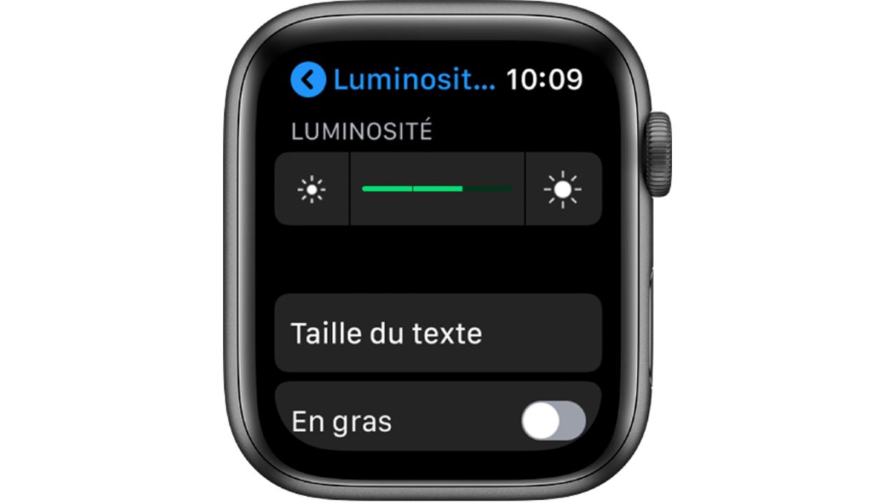 Comment ajuster la taille du texte sur notre Apple Watch