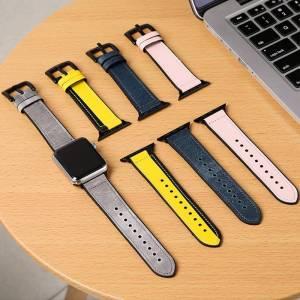 Bracelet Sports hybride Cuir et Silicone pour Apple Watch
