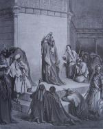 Gravure Gustave Doré la Bible Ancien Testament David inconsolable de la mort d'Absalom
