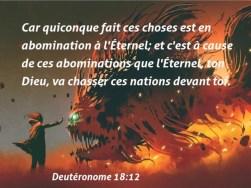 84 Versets de la Bible sur Abominations