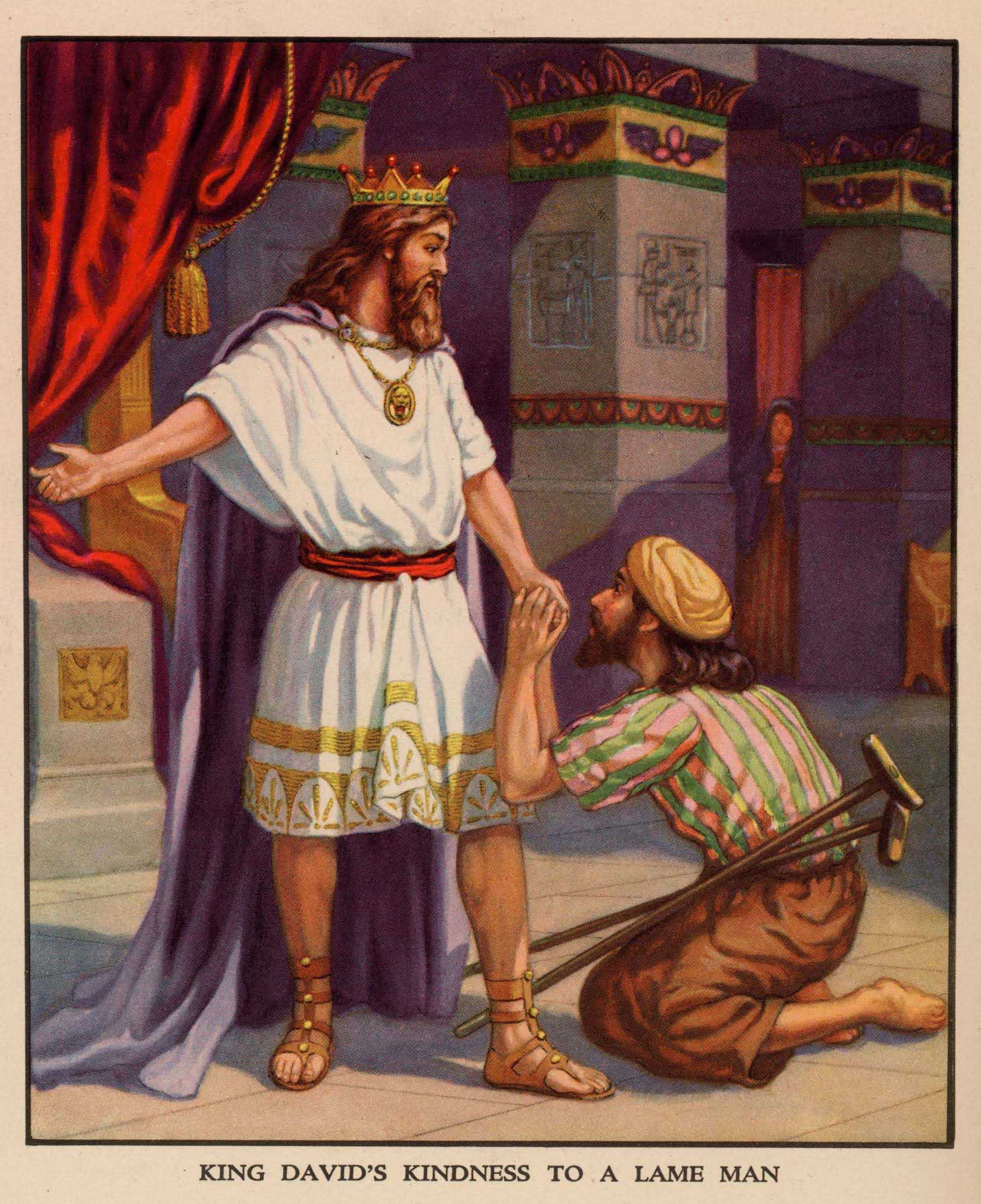 David Shows Kindness To Mephibosheth The Bible History Books