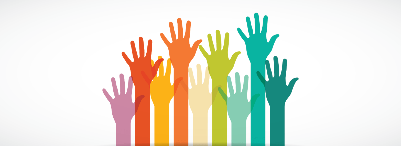 hands raised in church