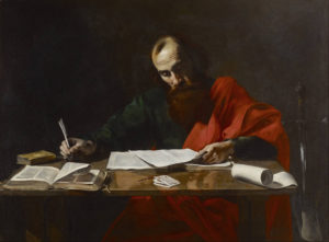 Paul writing scripture