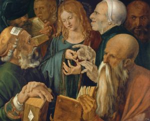 painting by durer of jesus among the doctors