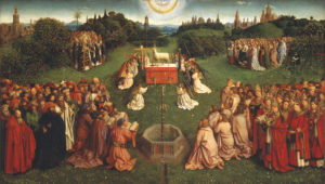 adoration of the lamb by Van Eyck