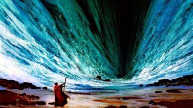 Moses Parting the Red Sea, baptized in the wilderness