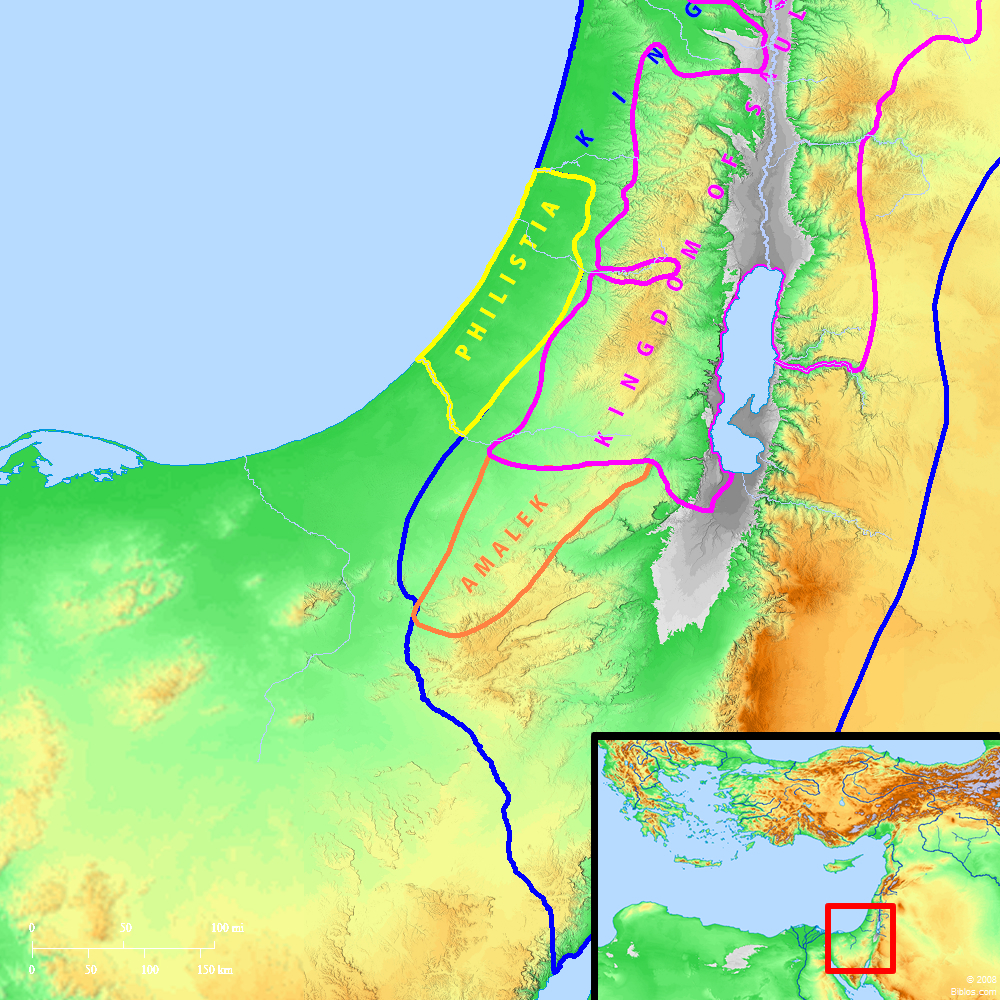 Tyre Region Map Sidon And