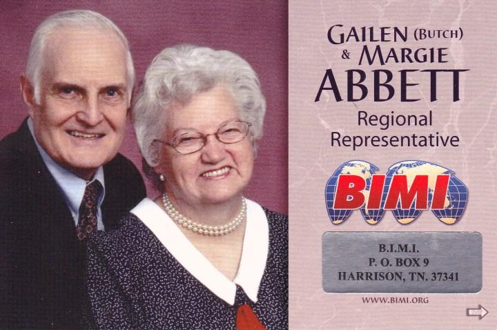 Gailen & Margie Abbett